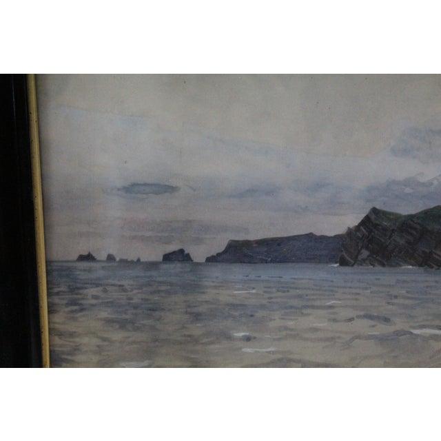 1900s Zeno Diemer Harbor Scene Painting For Sale - Image 5 of 8