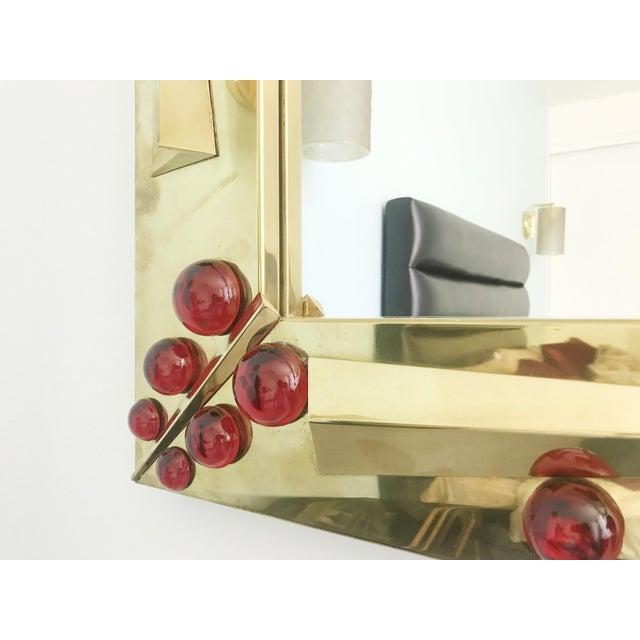 Rubino Brass Mirror by Fabio Ltd For Sale In Palm Springs - Image 6 of 10