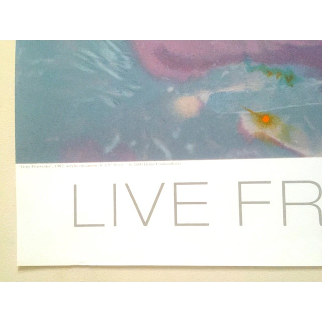 "Helen Frankenthaler Rare Lmtd Edtn Original Hand Pulled Silkscreen Print "" Grey Fireworks "" 1982 For Sale - Image 11 of 13"
