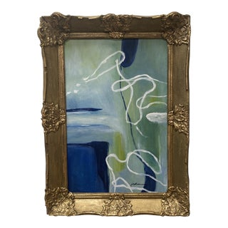 """Late 20th Century """"Paradox"""" Abstract Acrylic Painting by Susan Lewis, Framed For Sale"""