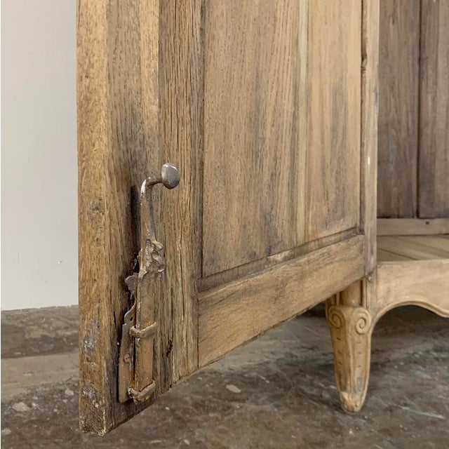 19th Century Country French Normandy Stripped Oak Armoire For Sale - Image 11 of 13