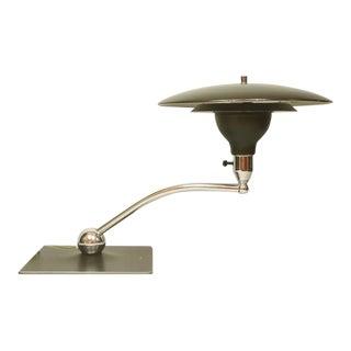 Sightlight Chrome Saucer Table Desk Lamp For Sale