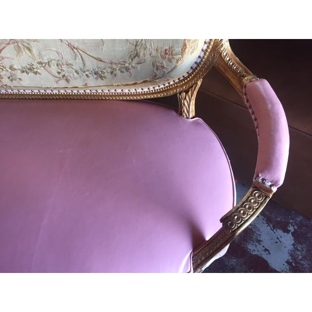 French Early 20th Century Antique French Settee For Sale - Image 3 of 11