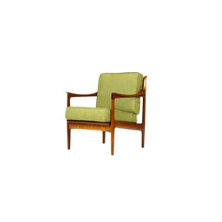 1960s Danish Modern Teak Lounge/Arm Chair For Sale