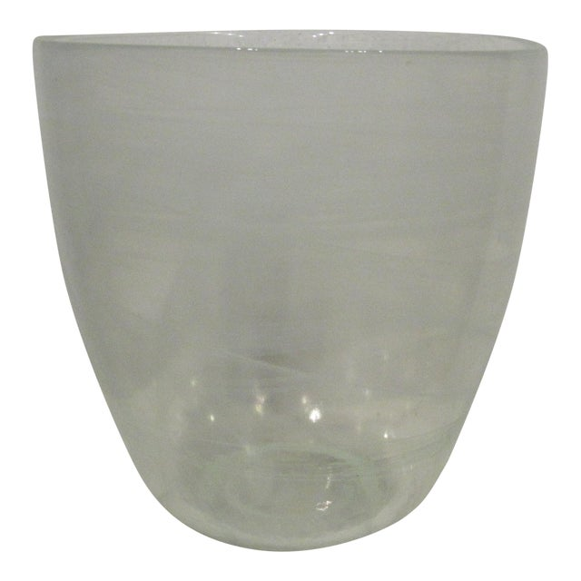 Glass Champagne Bottle Holder Ice Bucket - Image 1 of 4