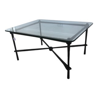 Modern Minton Corley Wrought Iron Coffee Table For Sale