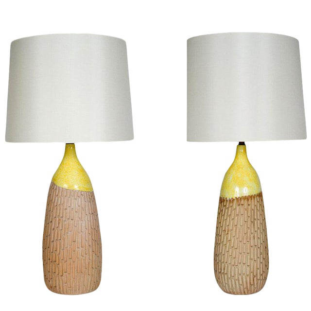 Pair of Ceramic Table Lamps by Raymor - Image 1 of 10