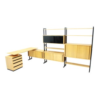 Very Rare Office With a Shelf and a Desk by Alfred Altherr, Switzerland 1955 For Sale