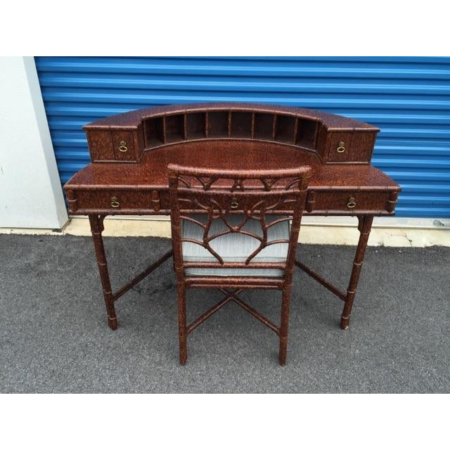 Ficks Reed Demilune Writing Desk - Image 7 of 8
