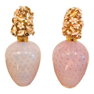 Vintage Murano Irice Perfume Bottles - Set of 2 For Sale