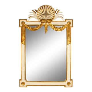 Regency Style Giltwood and Painted Wood Mirror For Sale