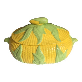 Mid 20th Century Corn Covered Dish