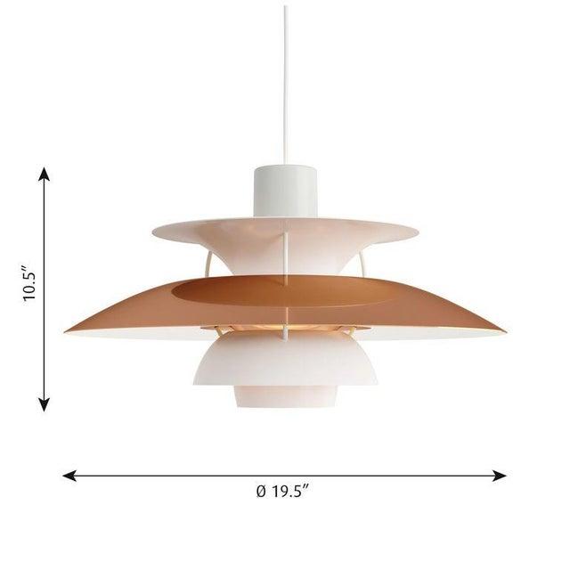 Poul Henningsen PH 5 copper pendant for Louis Poulsen. Poul Henningsen introduced his iconic PH 5 pendant light in 1958....