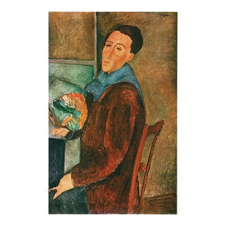 1940s Amedelo Modigliani Swiss Plate After Self-Portrait For Sale