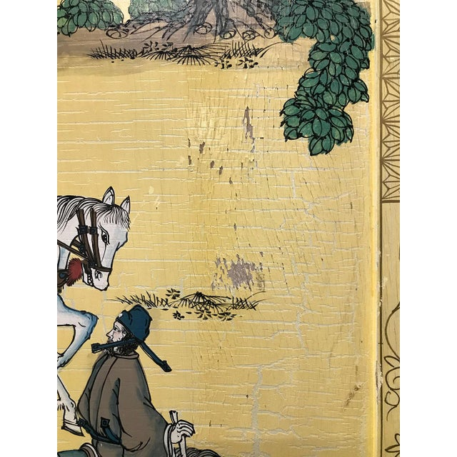 Vintage Chinoiserie Hand-Painted Secretary For Sale - Image 10 of 12