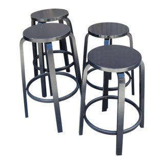 Set of Four Artek Barstool Stool by Alvar Aalto, Mid-Century Modern For Sale