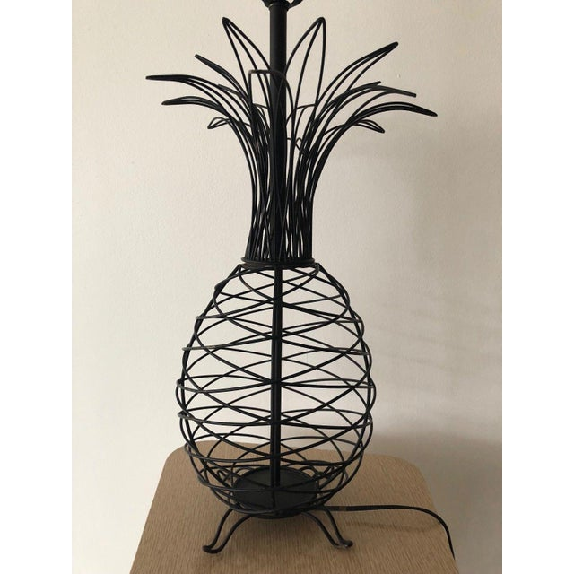 1950s Vintage Ferris Shacknove Black Wire Pineapple Lamp For Sale - Image 4 of 9