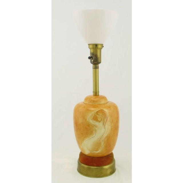 Sèvres Porcelain Pair Sevres Porcelain Handpainted Female Nude Table Lamps For Sale - Image 4 of 7