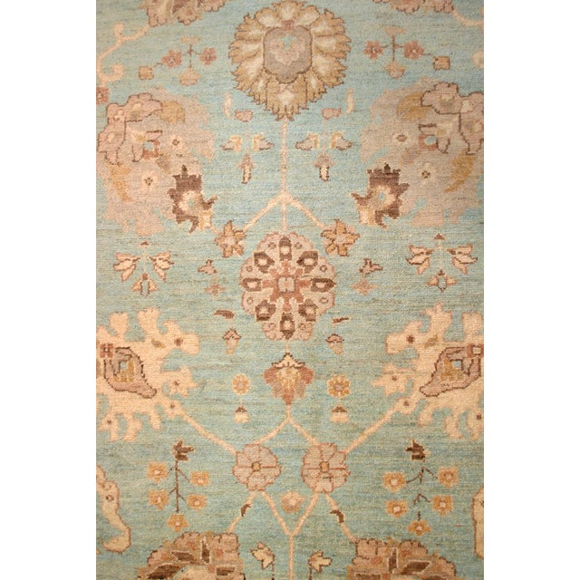 20th Century Chobi Blue Rug - 7′11″ × 9′9″ For Sale In Los Angeles - Image 6 of 8