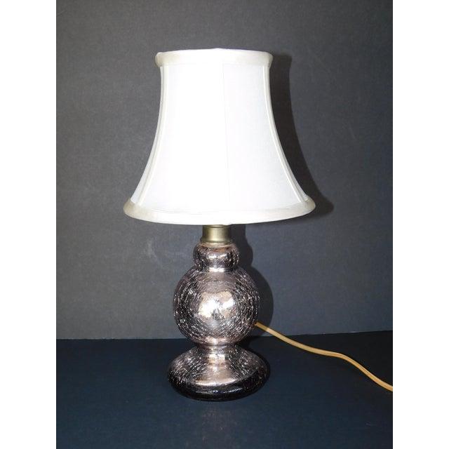 Vintage Pink Mercury Glass Boudoir Lamp - Image 3 of 5