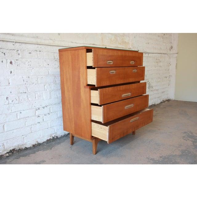 "Kent Coffey ""Focus"" Mid-Century Modern Highboy Dresser For Sale - Image 5 of 9"