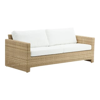Sixty 3-Seater Sofa - Natural - Tempotest White Canvas Seat and Back Cushion