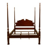 Image of Knob Creek Ethan Allen Cherry Queen Size Bed For Sale