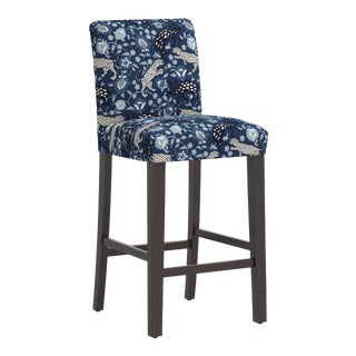 Bar stool in Leopard Blue For Sale