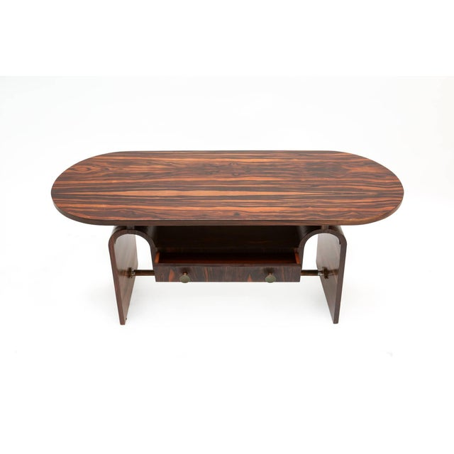 Art Deco Modernist macassar Art Deco coffee table for Metz & Co For Sale - Image 3 of 7