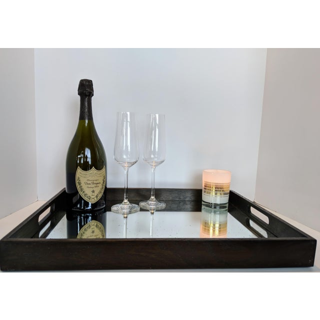 Early 21st Century Notre Monde Antiqued Mirrored Tray For Sale - Image 5 of 13