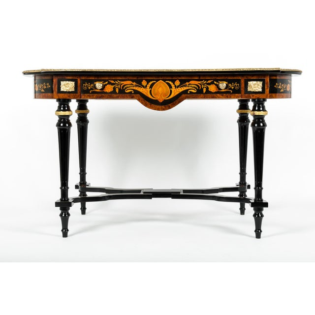 19th Century Boulle Style Center Table For Sale - Image 11 of 11