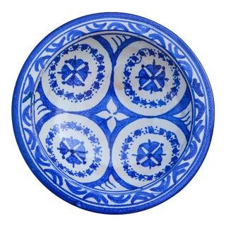 Moorish Ceramic Plate W/ Fine Motif For Sale