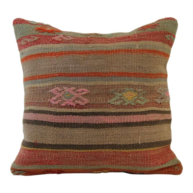 Turkish Handmade Kilim Pillowcase - Image 1 of 5