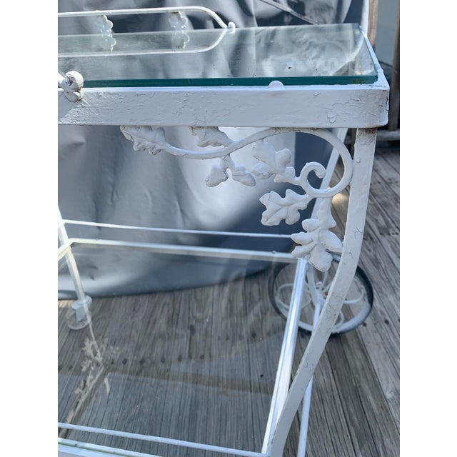 Woodard Furniture Co. Woodard Orleans White Tea or Bar Car For Sale - Image 4 of 10