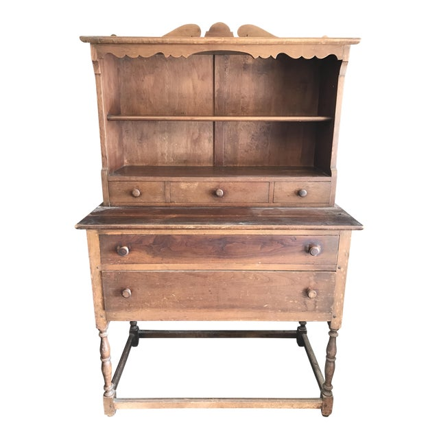 Antique Wood Hutch - Image 1 of 6