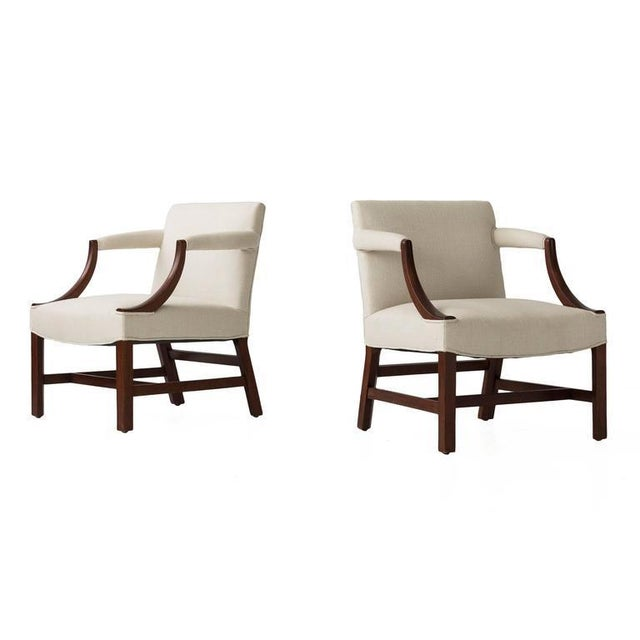 Mahogany Edward Wormley Pair of Armchairs For Sale - Image 7 of 7