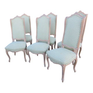 Louis XV Carved Wingback Dining Chairs - Set of 6 For Sale
