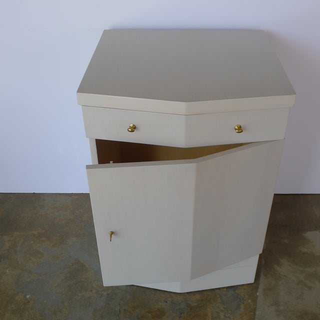 Wood Customizable Paul Marra Pinnacle Nightstand in Gray Wash Over Douglas Fir For Sale - Image 7 of 9