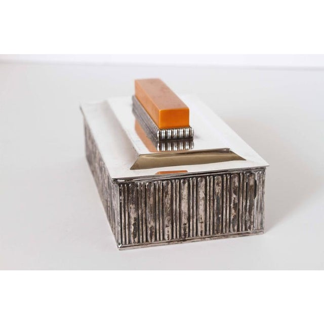 "Art Deco Art Deco Barbour Silver Co ""Special Line"" Modernist Box by Albert Feinauer 1929 For Sale - Image 3 of 11"