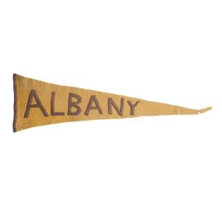 Antique Albany Felt Flag Pennant For Sale