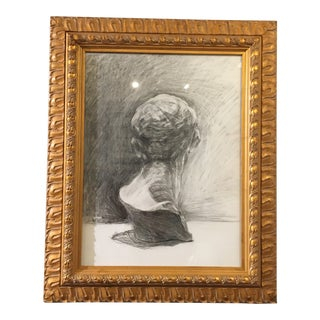 """Drawing of a Bust"" by Lynne Riding For Sale"