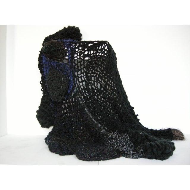 Paula Schubatis Bespoke Organic Form Crochet Throw Blanket by Paulaschubatis For Sale - Image 4 of 4