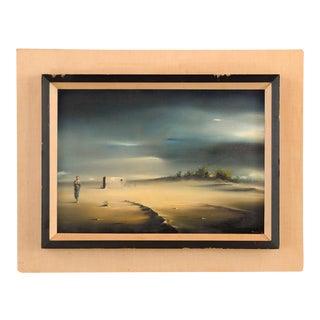 Robert Watson -Surreal Desert Landscape- Oil Painting -1959 For Sale