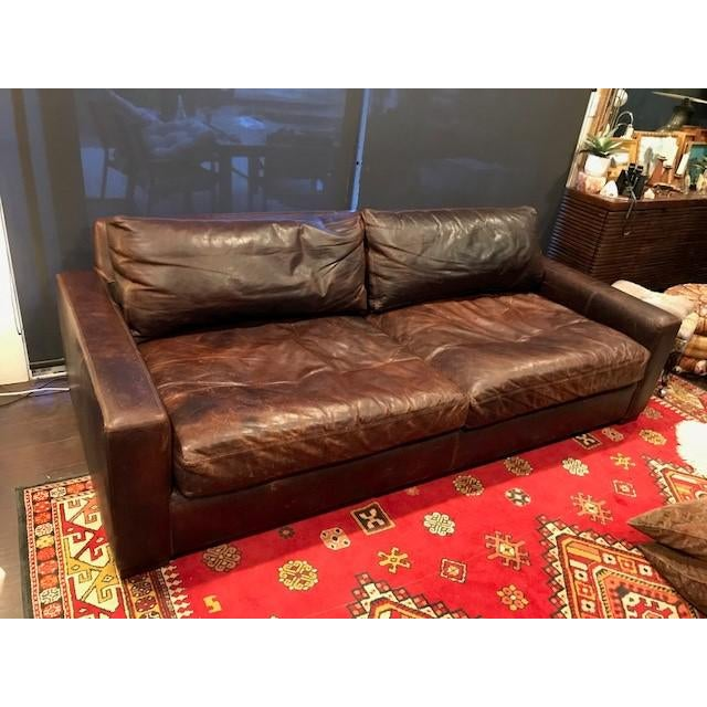 Maxwell Leather Sofa: Restoration Hardware Leather Maxwell Sofa