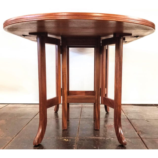 Scandinavian Modern Style Nathan Teak Parker Knoll Drop-Leaf Gate-Leg Occasional Dining Table For Sale In San Diego - Image 6 of 13