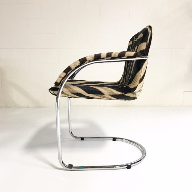 Giovanni Offredi for Saporiti Lens Chairs in Zebra - Set of 8 - Image 5 of 11