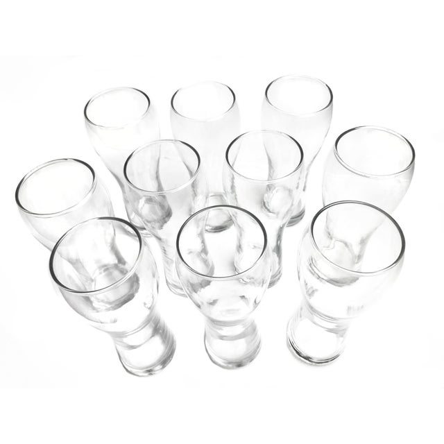 "Set of 10 Anchor Hocking Pilsner Beer Glasses. These glasses are model #3756, their ""Stockholm"" design. They hold 16 OZ..."