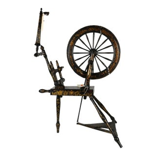 200 Year Old Antique English Spinning Wheel Once in the Collection of the Metropolitan Museum of Art For Sale
