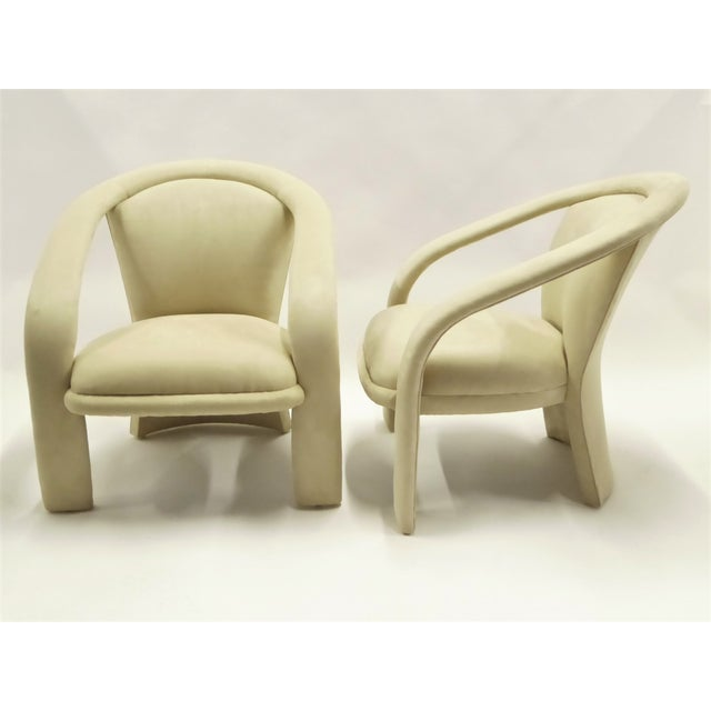 Space Age Modern Pair Pop Armchairs by Carson's, 1980s For Sale - Image 13 of 13