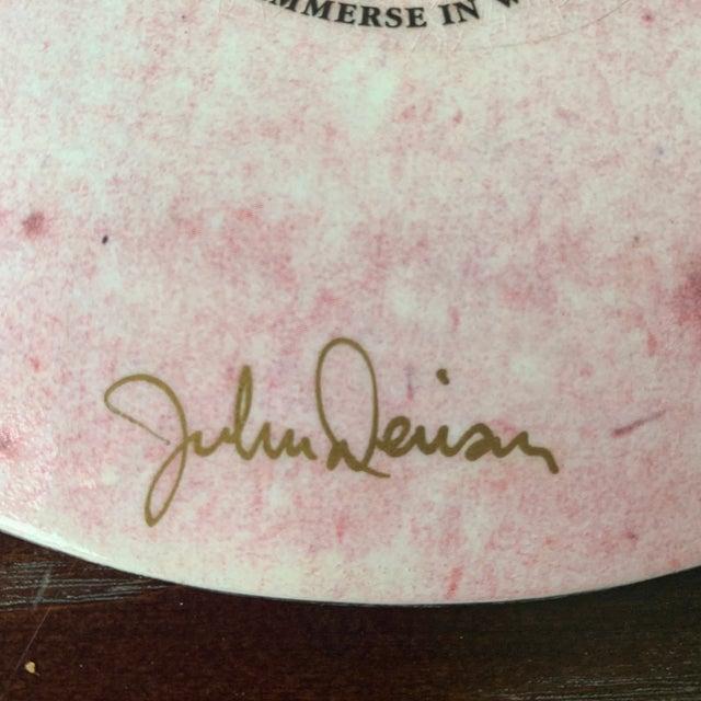 2000 - 2009 John Derain Signed Decoupage Decorative Plate For Sale - Image 5 of 7